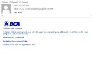 Email Penipuan BCA
