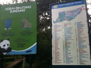 papan peta Kebun Binatang Bandung