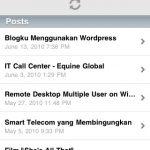 Wordpress di Iphone