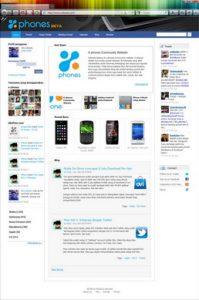 tampilan x-phones full page